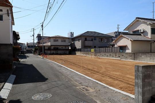 【分譲地】ミセスタウン中央1丁目 北東側より撮影